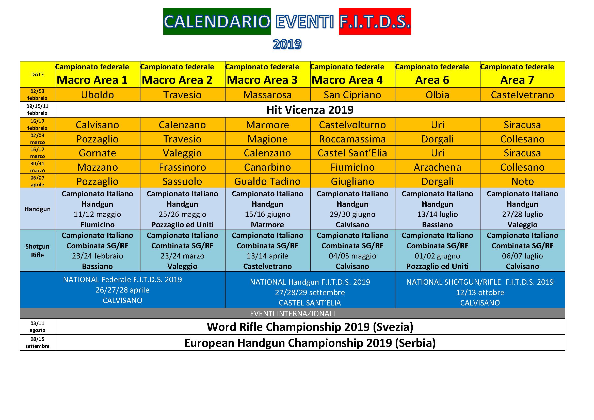 Calendario Sportivo.Comunicato Nr 2 Attivita Sportiva Pubblicazione